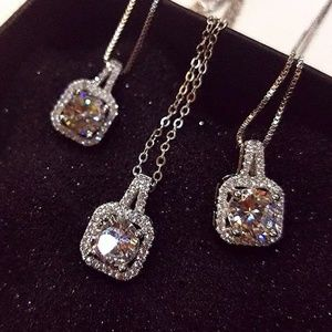 Jewelry - Luxury Female Crystal White Zircon Stone Necklace